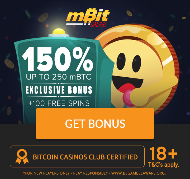 mBit Casino exclusive bonus