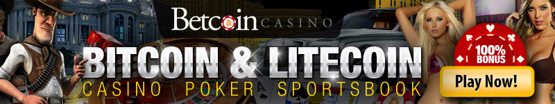 Betcoin Casino, 100% signup bonus - US players accepted